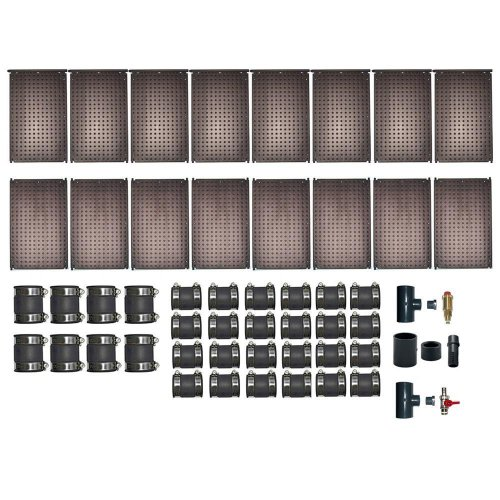 oku solarabsorber set bis32 m wasserfl che schwimmbadheizung incl. Black Bedroom Furniture Sets. Home Design Ideas