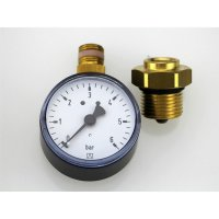 Manometer 0-6 bar mit Montageventil